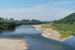 Potok zwany Dunajcem koło Zakliczyna