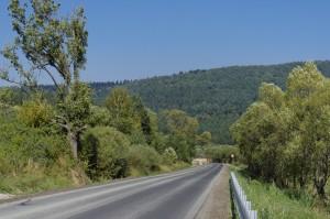 Funkel nówka asfalt pomiędzy Radoszycami a Komańczą